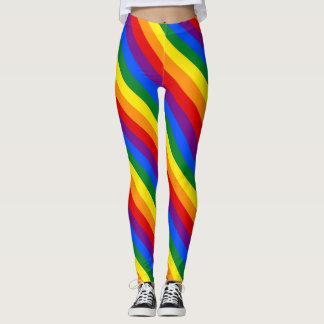 Legging Caneleiras do arco-íris das mulheres