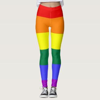 Legging Caneleiras do arco-íris de Traa-Tan