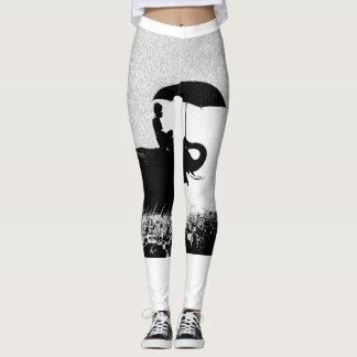 Legging Caneleiras do costume da arte da chuva do elefante