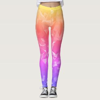 Legging Caneleiras do cristal do arco-íris