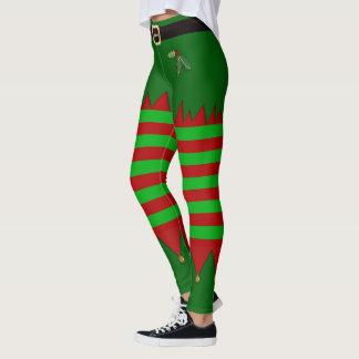 Legging Caneleiras do duende do Natal