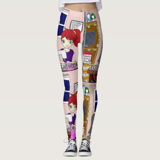 Legging Caneleiras do farol de Cosplay