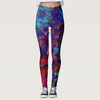 Legging Caneleiras do Fractal, crisântemos