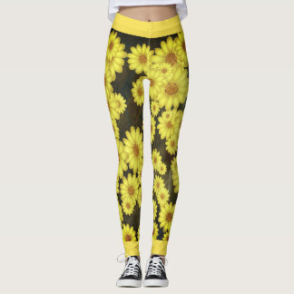 Legging Caneleiras do girassol