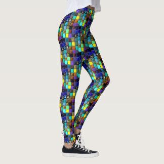Legging Caneleiras do hippy do azulejo do mosaico do falso