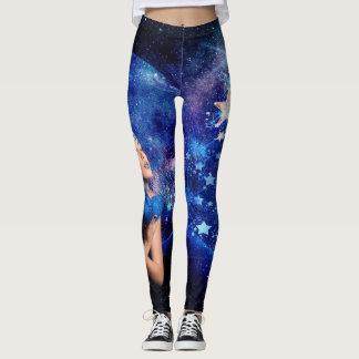 Legging Caneleiras do impressão da galáxia