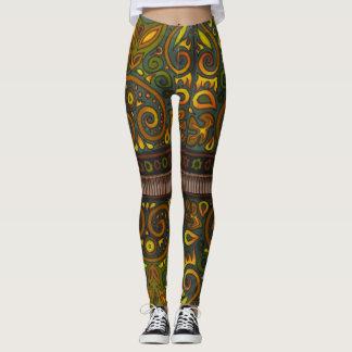 Legging Caneleiras do joelho do peekaboo do desenhista