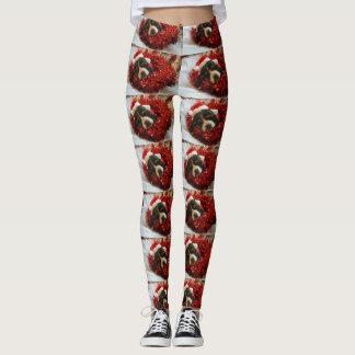 Legging Caneleiras do Natal de Basset Hound