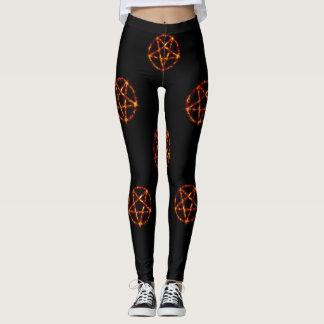 Legging caneleiras do pentagram