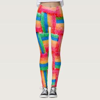 Legging Caneleiras do ponto do arco-íris