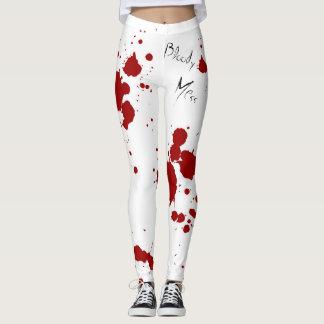 Legging Caneleiras do Splatter do sangue