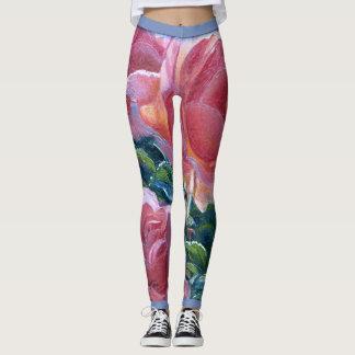"""Legging """"Caneleiras dos rosas corais"""""""