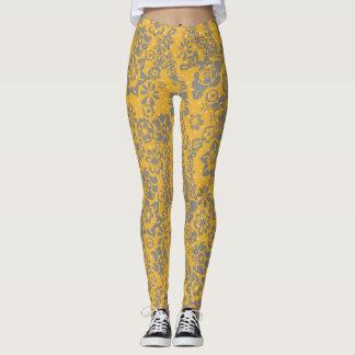 Legging Caneleiras florais amarelas