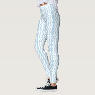 Legging Caneleiras gráficas azuis & brancas Azure