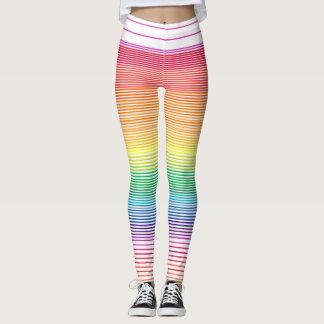 Legging caneleiras horizontais multicolour da listra