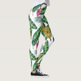 Legging Caneleiras impressas banana para mulheres
