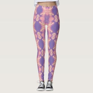 Legging Caneleiras impressas da ioga do laço dos pastels