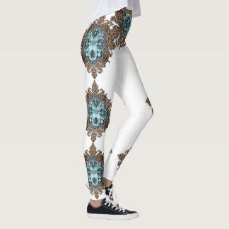 Legging Caneleiras jeweled turquesa