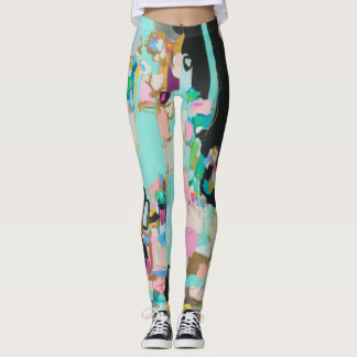 Legging Caneleiras legal da arte abstracta por Susan