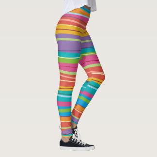 Legging Caneleiras listradas coloridas
