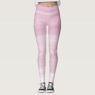 Legging Caneleiras listradas cor-de-rosa