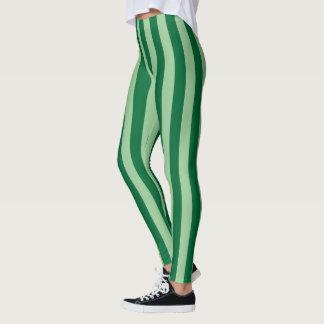 Legging Caneleiras listradas verdes