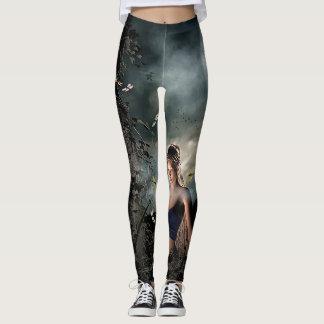 Legging Caneleiras mágicas da Lua cheia da arte da