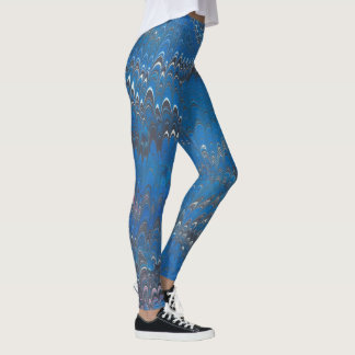 Legging Caneleiras marmoreadas azul