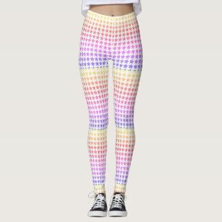 Legging Caneleiras modeladas estrela do arco-íris
