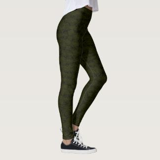 Legging Caneleiras modernas do desenhista esverdeado