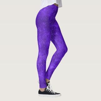 Legging Caneleiras na moda da galáxia ultravioleta