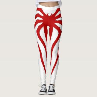 Legging Caneleiras na moda da malhação do design da aranha
