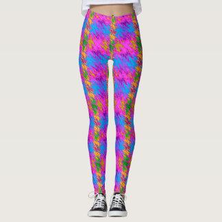 Legging Caneleiras onduladas coloridas modernas do design