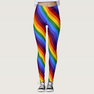 Legging Caneleiras onduladas do arco-íris