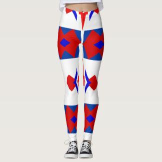 Legging Caneleiras patrióticas da forma do divertimento -