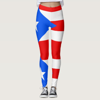 Legging caneleiras porto-riquenhas do costume da bandeira