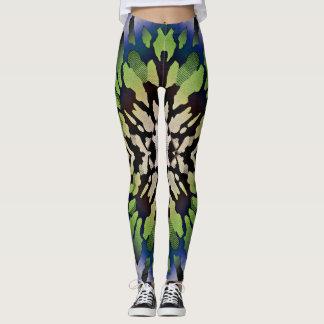 Legging Caneleiras psicadélicos coloridas da Laço-Tintura
