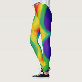 Legging Caneleiras psicadélicos do blogue do arco-íris