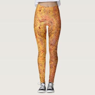 Legging Caneleiras rebitadas oxidadas do metal