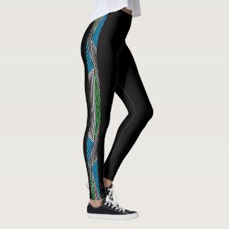 Legging Caneleiras retros de Rex do arco-íris: Magro