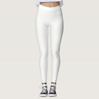"""Legging Caneleiras """"sexy"""" brancas/preto"""