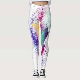 Legging Caneleiras Sparkly originais do arco-íris