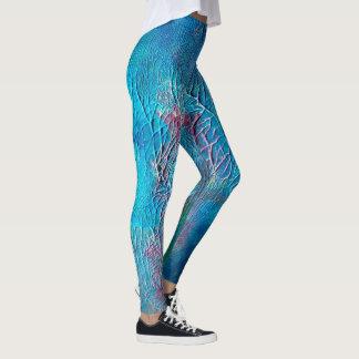Legging Caneleiras submarinas abstratas da pintura |