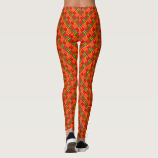 Legging Caneleiras supremas de Caliente do pop do Afro
