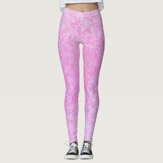 Legging Caneleiras Textured brancas do rosa Pastel