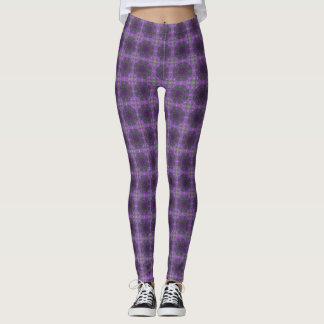 Legging Caneleiras ultravioletas do laço