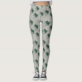 Legging Caneleiras verdes da palmeira