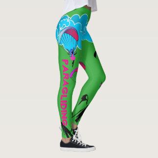 Legging Caneleiras verdes do duende do parapente