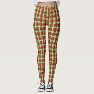 """Legging caneleiras verdes vermelhas """"Apple """""""