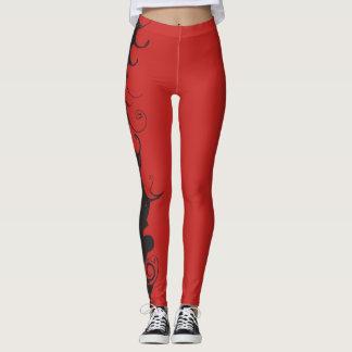 Legging Caneleiras vermelhas com preto